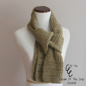 Cream Of The Crop Crochet ~ Beginner Scarf {Free Crochet Pattern}
