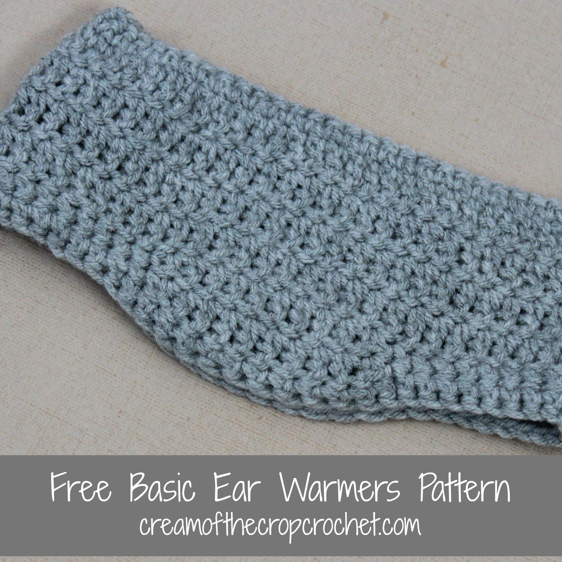 Basic Ear Warmers Crochet Pattern