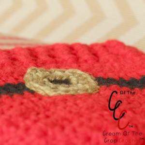 Cream Of The Crop Crochet ~ Preemie/Newborn Santa Belt Buckle Hats {Free Crochet Pattern}