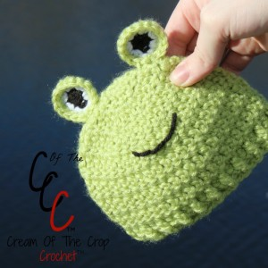 Cream Of The Crop Crochet ~ Preemie/Newborn Frog Hat {Free Crochet Pattern}