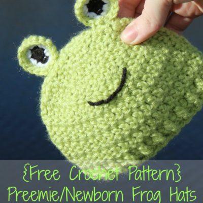 Preemie Newborn Frog Hat Crochet Pattern