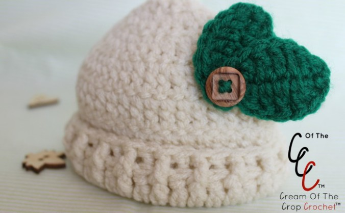 Cream Of The Crop Crochet ~ Preemie/Newborn Leaf Hats {Free Crochet Pattern}