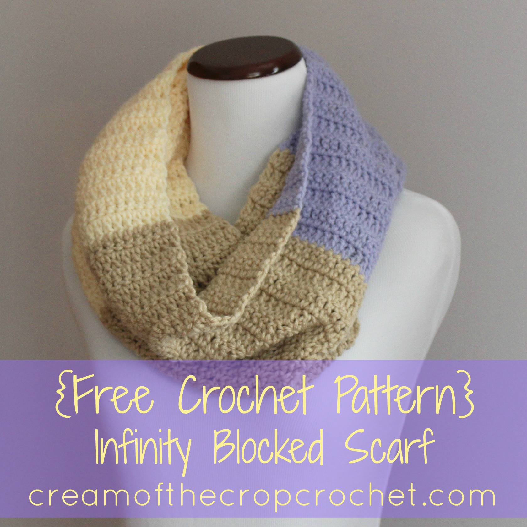 Infinity Color Blocked Scarf Crochet Pattern