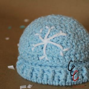 Cream Of The Crop Crochet ~ Preemie/Newborn Snowflake Hats {Free Crochet Pattern}