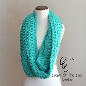 Cream Of The Crop Crochet ~ Chunky Infinity Scarf {Free Crochet Pattern}