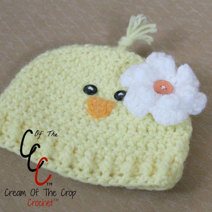 Preemie Newborn Chick Hat Crochet Pattern Cream Of The ...