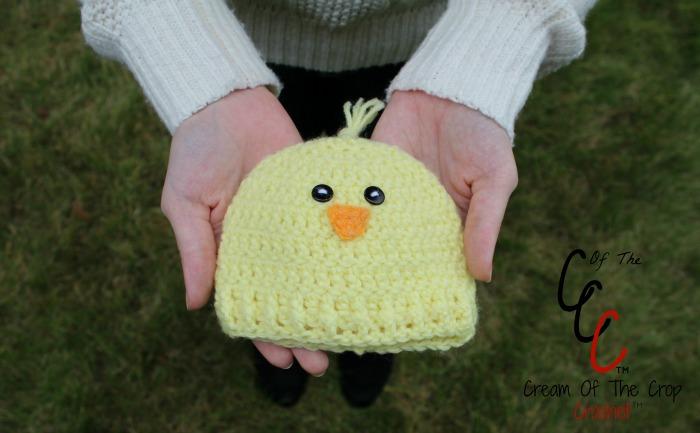 Cream Of The Crop Crochet ~ Preemie/Newborn Chick Hats {Free Crochet Pattern}