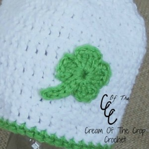 Cream Of The Crop Crochet ~ Four Leaf Clover Applique {Free Crochet Pattern}