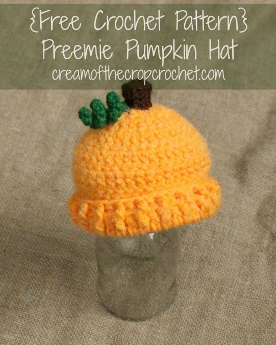 Cream Of The Crop Crochet ~ Preemie/Newborn Pumpkin Hats {Free Crochet Pattern}