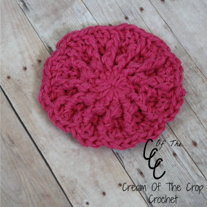 Cream Of The Crop Crochet ~ Ferris Wheel Face Scrubbie {Free Crochet Pattern }