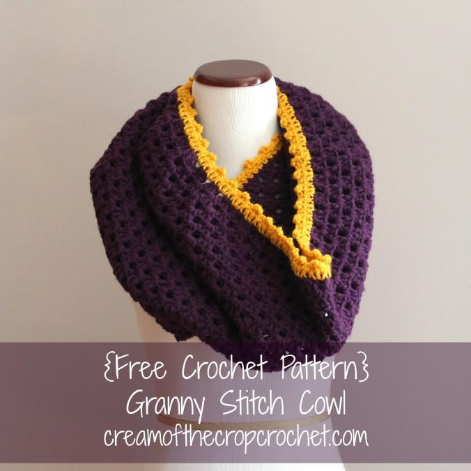Cream Of The Crop Crochet ~ Granny Stitch Cowl {Free Crochet Pattern