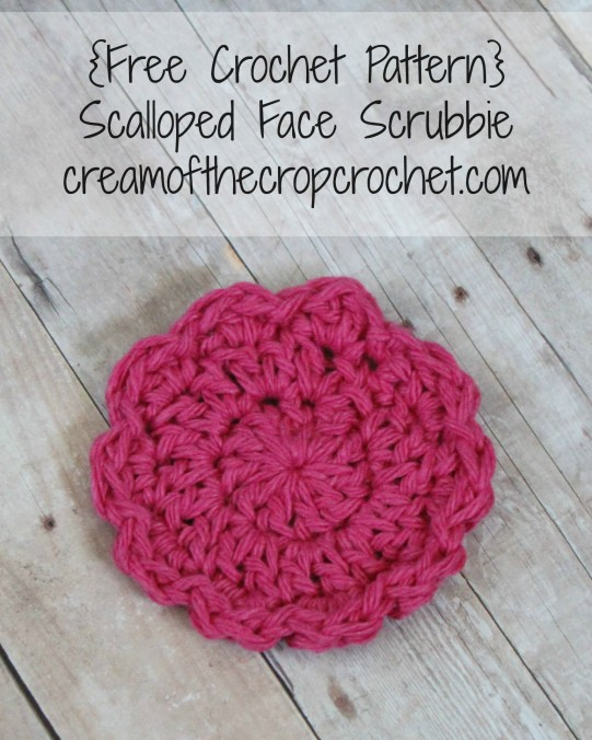 Cream Of The Crop Crochet ~ Scalloped Face Scrubbie {Free Crochet Pattern}