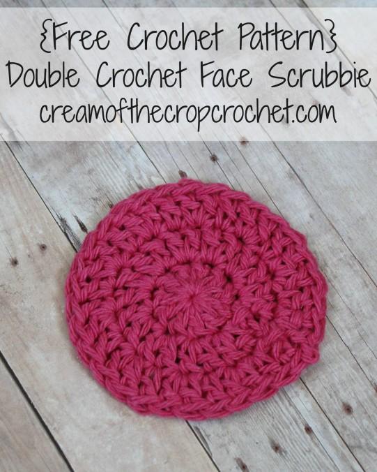 Cream Of The Crop Crochet ~ Double Crochet Face Scrubbie {Free Crochet Pattern}