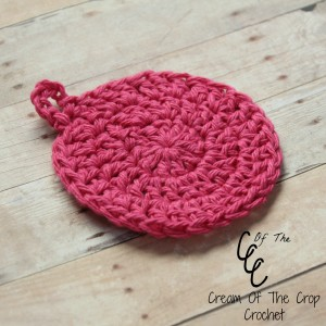 Cream Of The Crop Crochet ~ Hanging Face Scrubbie {Free Crochet Pattern}