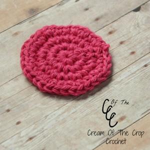 Cream Of The Crop Crochet ~ Single Crochet Face Scrubbie {Free Crochet Pattern}
