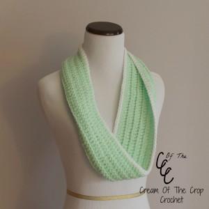 Cream Of The Crop Crochet ~ Front Loop Infinity Scarf {Free Crochet Pattern}