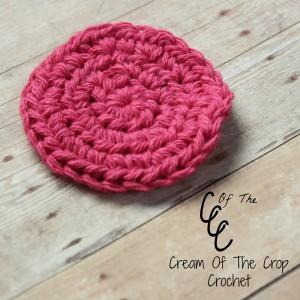 Cream Of The Crop Crochet ~ Half Double Crochet Face Scrubbie {Free Crochet Pattern}