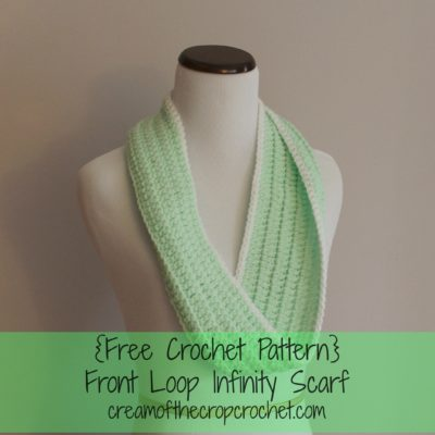 Front loop Infinity Scarf Crochet Pattern