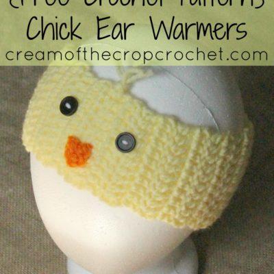 Chick Ear Warmers Crochet Pattern