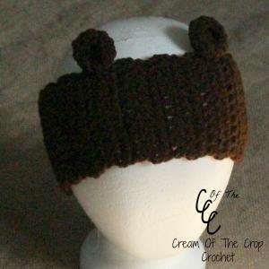 Cream Of The Crop Crochet ~ Bear Ears, Ear Warmers {Free Crochet Pattern}