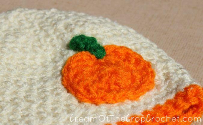 Cream Of The Crop Crochet ~ Pumpkin Applique {Free Crochet Pattern}