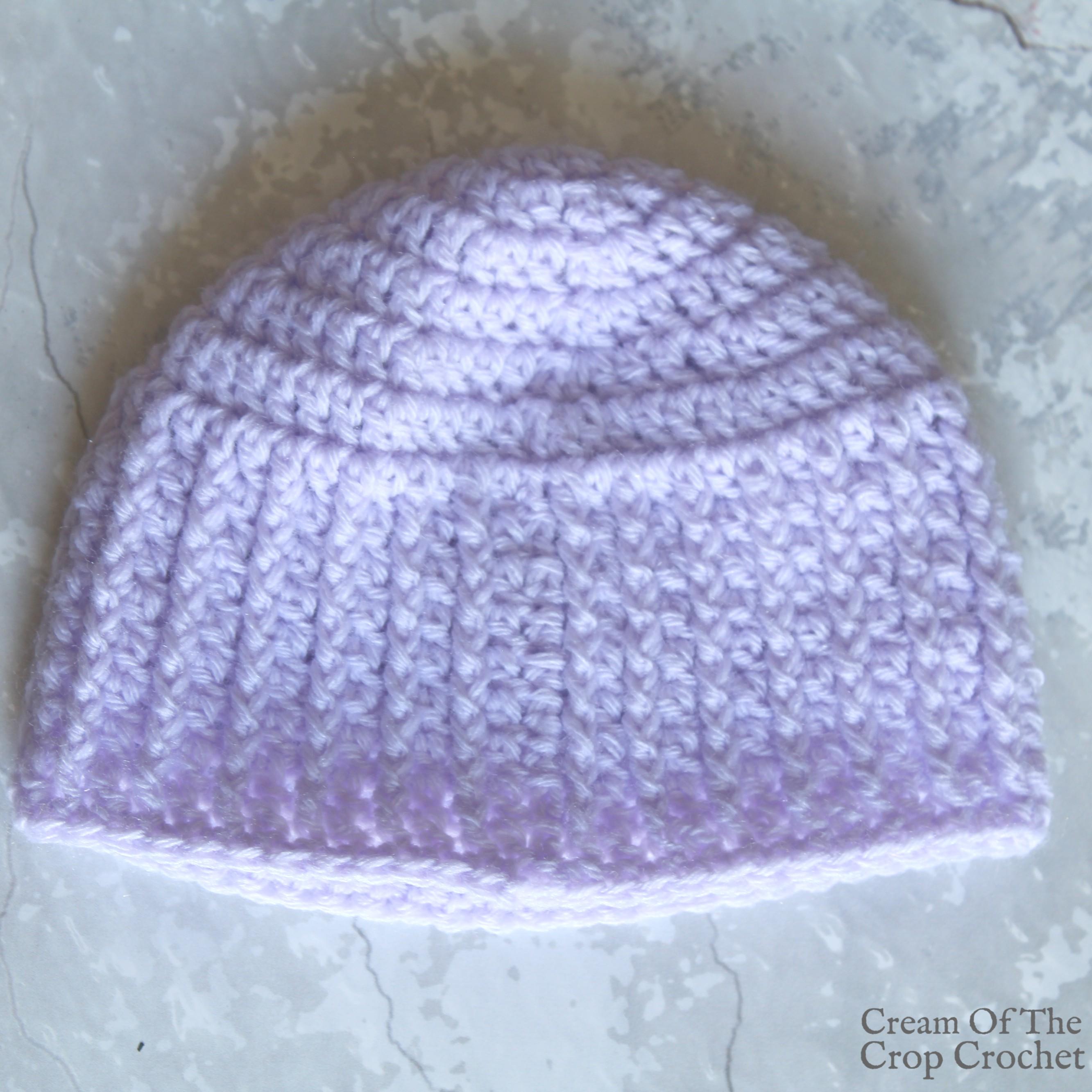 Textured Newborn Hat Crochet Pattern Cream Of The Crop ...