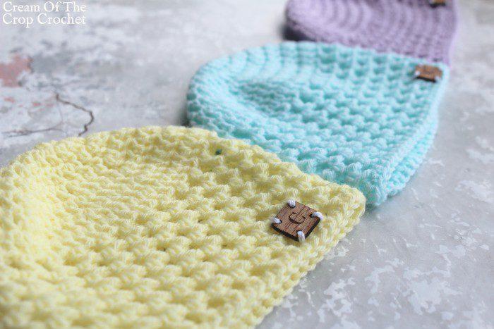 Mesh Newborn Hat Crochet Pattern   Cream Of The Crop Crochet