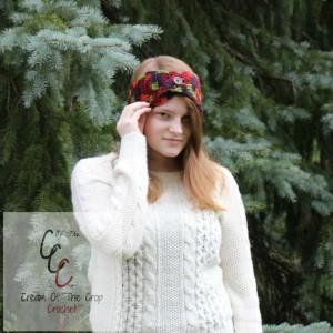 Cream Of The Crop Crochet ~ Button Flap Ear Warmers {Free Crochet Pattern}