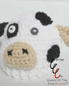 Cream Of The Crop Crochet ~ Preemie/Newborn Cow Hats {Free Crochet Pattern}