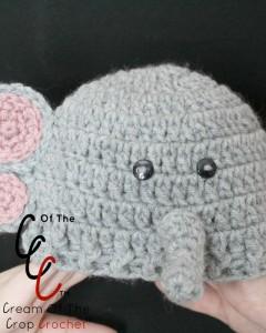 Cream Of The Crop Crochet ~ Preemie/Newborn Elephant Hats {Free Crochet Pattern}