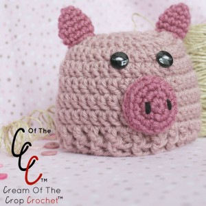 Cream Of The Crop Crochet ~ Preemie/Newborn Pig Hats {Free Crochet Pattern}
