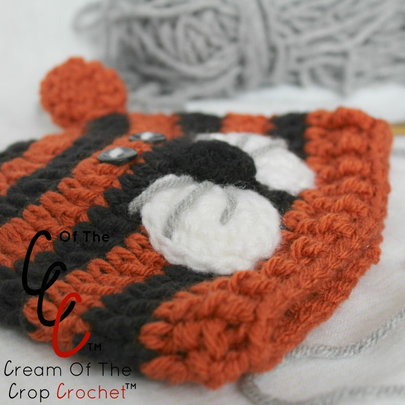 Preemie Newborn Tiger Hat Crochet Pattern Cream Of The ...