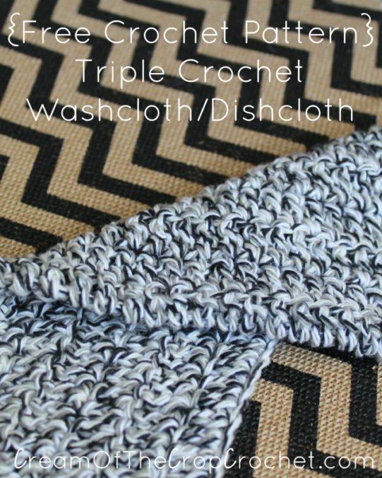 Cream Of The Crop Crochet ~ Triple Crochet Washcloth/Dishcloth {Free Crochet Pattern}