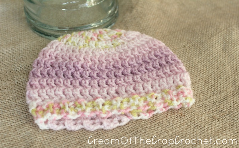 3-5 lb Preemie Light Worsted Weight Stretchy Ribbed Hat ...