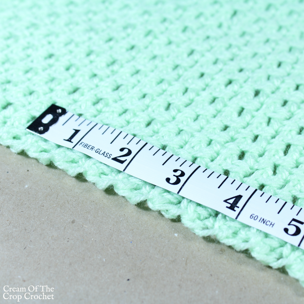 Blanket Size Chart | Cream Of The Crop Crochet