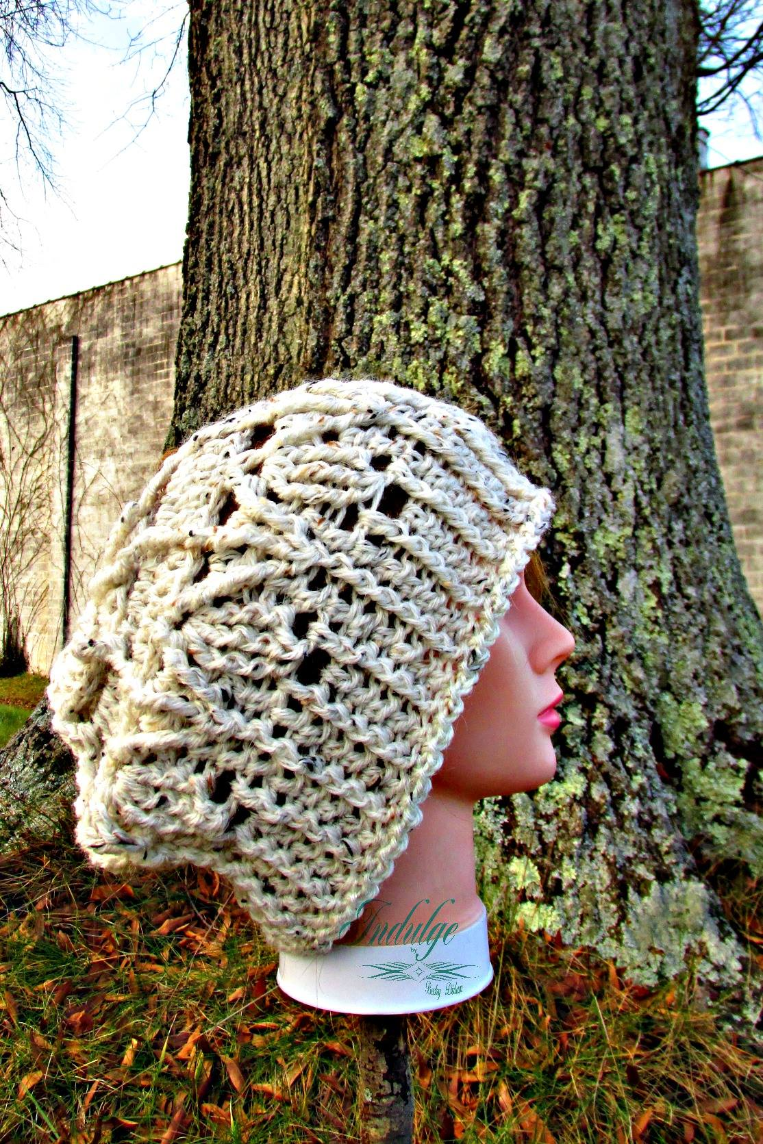 May Flowers Slouchy Hat Crochet Pattern