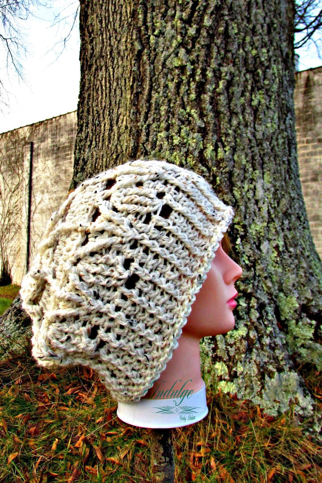 May Flowers Slouchy Hat Crochet Pattern