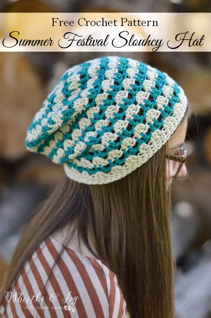 Summer Festival Slouchy Hat
