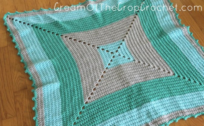 Cream Of The Crop Crochet ~ Oceans and Seas Preemie Blanket {Free Crochet Pattern}