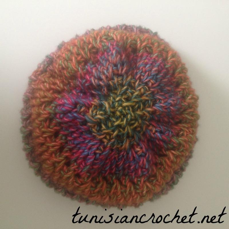 Rainbow Slouchy Beanie Crochet Pattern