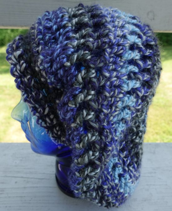 Slouching Towards Winter Beret ~ Mainly Crochet ~ The 12 Months Of Slouchy Hats