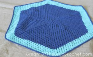 Cream Of The Crop Crochet ~ Cluster Color Blocked Preemie Blanket {Free Crochet Pattern}