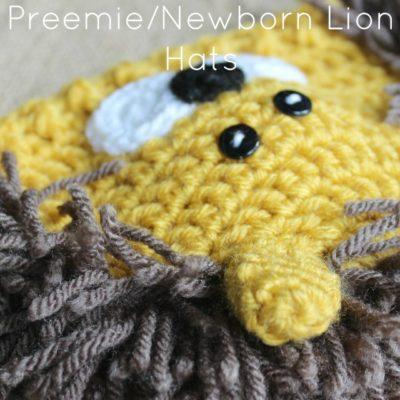 Preemie Newborn Lion Hat Crochet Pattern