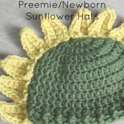 Preemie Newborn Sunflower Hat Crochet Pattern