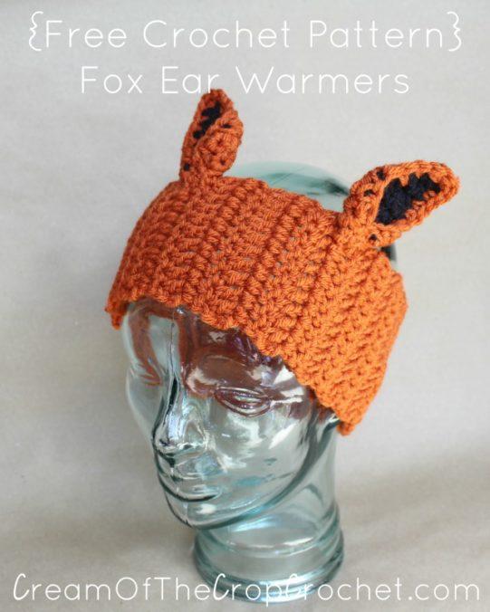 Cream Of The Crop Crochet ~ Fox Ear Warmers {Free Crochet Pattern}