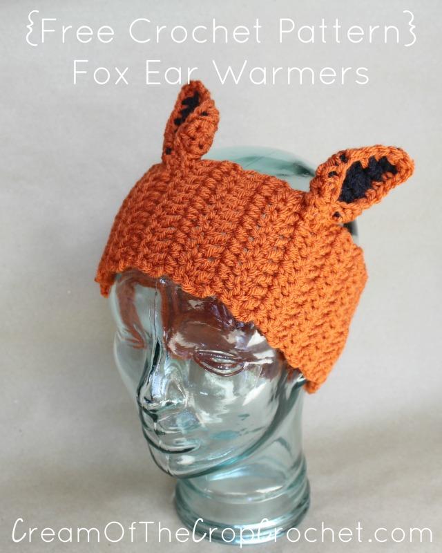 Fox Ear Warmers Crochet Pattern