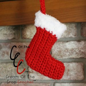 Cream Of The Crop Crochet ~ Mini Christmas Stocking {Free Crochet Pattern}