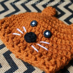 Cream Of The Crop Crochet ~ Preemie/Newborn Fox Hats {Free Crochet Pattern}