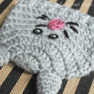 Cream Of The Crop Crochet ~ Preemie/Newborn Kitty Hats {Free Crochet Pattern}