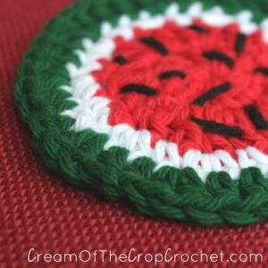 Cream Of The Crop Crochet ~ Watermelon Face Scrubbie {Free Crochet Pattern}